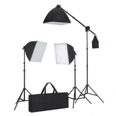Set 3 lumini cu tripod & softbox foto