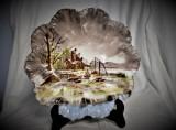 Farfurie Decorativa portelan Limoges Franta - scena rurala
