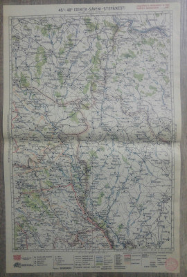 Edinita-Saveni-Stefanesti// harta lito 1929, M. D. Moldoveanu foto