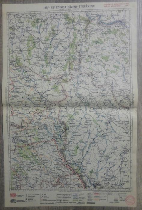 Edinita-Saveni-Stefanesti// harta lito 1929, M. D. Moldoveanu