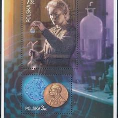 Polonia, chimie, oameni de stiinta, Marie-Curie, 2011, bloc,  MNH