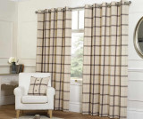 Set 2 draperii Plaid Check Natural 168x229 cm