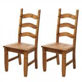 Set de 2 scaune din lemn masiv Zacateca