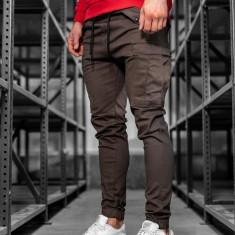 Pantaloni training cargo bărbați maro Bolf 1005