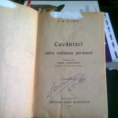 CUVANTARI CATRE NATIUNEA GERMANA - J.G. FICHTE