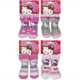 Cumpara ieftin Set 4 perechi sosetele fetite baby Hello Kitty