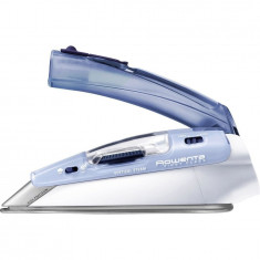 Fier de calcat portabil First Class DA1510F2, 1000 W, talpa inox Microsteam 200, 0.65 l, 45 g/min, alb/albastru