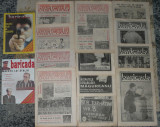 ziar Baricada, anul II,1991,12 numere + 2 Revista,ziare dupa Revolutie anii 90