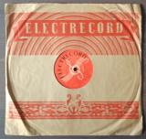"""Disc ebonita 10"""" 1954 - Florin Dorian - Bella Dona / Luigi Ionescu - Avaramu"""