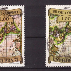 Brazilia 1972 EXFILIBRA, val.1Cr eroare de culoare