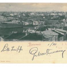 4524 - BUCURESTI, Panorama, Romania, Litho - old postcard - used - 1900, Circulata, Printata