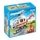 Set figurina Playmobil City Life - Elicopter medical de urgenta (6686)