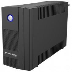 UPS line interactiv Powerwalker, 2 x Shuko, baterie 12 V / 6 Ah, 850 VA, 480 W
