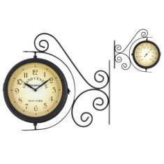 Ceas de perete stil gara cu termometru 37 cm