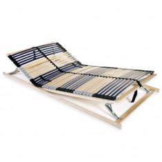 Bază de pat cu șipci, 42 șipci, 7 zone, 140 x 200 cm, FSC