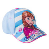 Sapca fete Frozen Anna bleu cu dungi albe