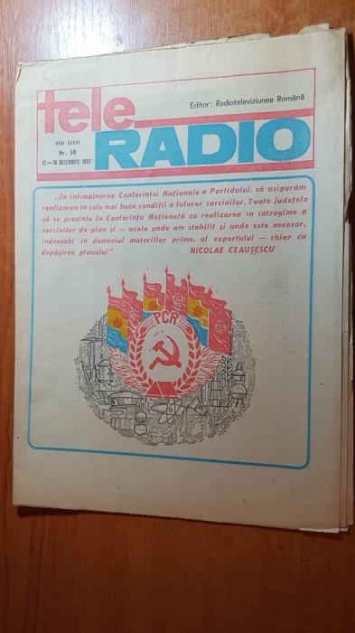 revista tele-radio saptamana 12-18 decembrie 1982