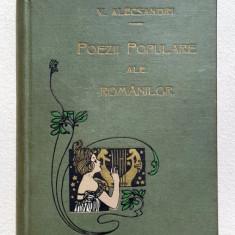 Poezii Populare ale Romanilor de V. Alecsandri - Bucuresti, 1908 Legatura Socec