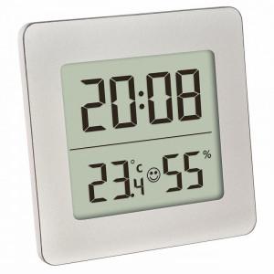 Termometru si higrometru digital cu ceas si alarma TFA, LCD, buton snooze