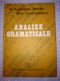 ANALIZE GRAMATICALE - N.ANGHELESCU-TEMELIE