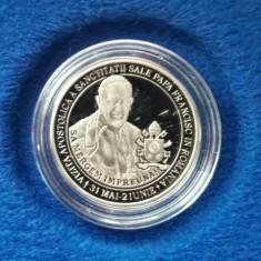 Monedă comemorativă BNR - 50 bani (Proof) Papa Francisc