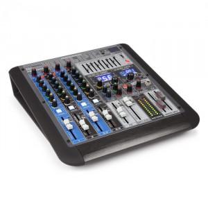 Power Dynamics PDM-S604, mixer muzical, 6 canale, DSP/MP3, port USB, receptor bluetooth