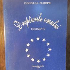 DREPTURILE OMULUI-DOCUMENTE-CONSILIUL EUROPEI