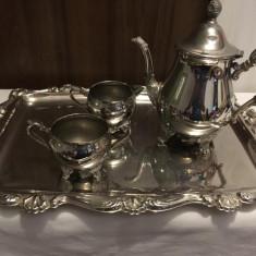 Set ceai Argintat Galleon