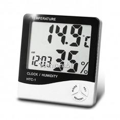 Ceas Termometru si Higrometru Digital HTC1
