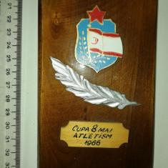 PLACHETA LUCRATA MANUAL -DINAMO - CUPA 8 MAI ATLETISM 1966