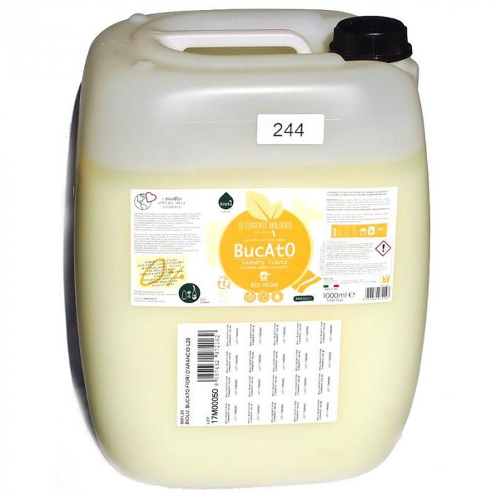 Detergent ecologic lichid vrac pentru rufe albe si colorate portocale 20L Biolu