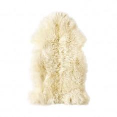 Covor piele de oaie, 80 x 45 cm, alb