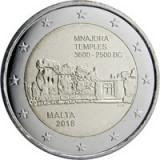 Malta 2 Euro 2018 (Mnajdra Temples)  CLT7 , KM-New UNC !!!