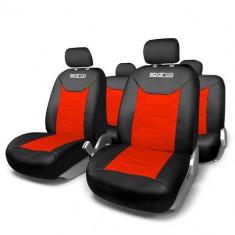 Huse Scaune Auto Suzuki Swift Sparco Sport Rosu Negru 11 Buc