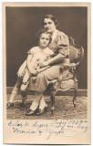 B2206 Mama cu copil studio Naschitz Lugoj 1937 poza veche regalista