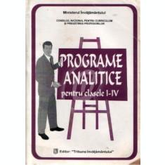 Programe analitice pentru clasele I-IV