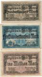 Bancnote rare Germania -100000,500000,1milion Marci 1923