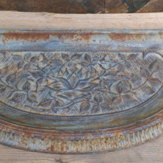 Tava veche din fonta pentru soba teracota