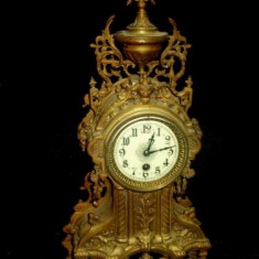 Antic ceas de șemineu sec 19 început bronz masiv