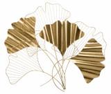 Decoratiune metalica de perete Goxy Glam Auriu, l80xA2,5xH70 cm