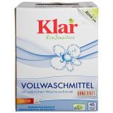 Cumpara ieftin Detergent bio pudra fara parfum pentru rufe, cu nuci de sapun, Klar, 2.5 kg
