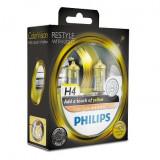 Becuri auto cu halogen pentru far Philips Color Vision H4 12V 60/55W P43t-38, culoare galben Kft Auto
