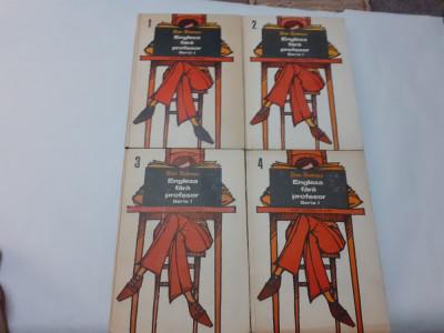ENGLEZA FARA PROFESOR SERIA I /4 VOLUME/AN 1976/    DAN DUTESCU  RF2/4 foto