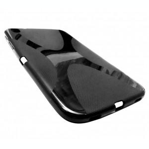 Husa silicon X-line neagra pentru Samsung Galaxy Tab 3 8.0 (SM-T310, SM-T311, SM-T315)