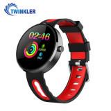 Bratara fitness inteligenta TKY-DM78 Plus cu functie de monitorizare ritm cardiac, Tensiune arteriala, Pedometru, Notificari, Rosie