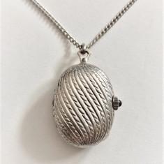 CEAS MECANIC PANDANTIV  ROYAL SWISS MADE - ELVETIA cu lant argint