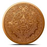 Moneda cupru 999 lingou , Calendar Aztec 29 grame, America de Nord