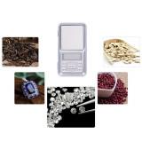 Cantar digital portabil, LCD, calibrare automata, alb, Gonga
