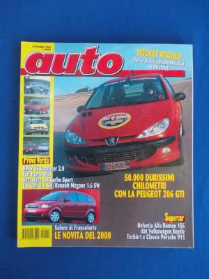 REVISTA AUTO ( IN ITALIANA ) , NR. 10 ( OCTOMBRIE ) / 1999 foto