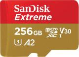 Card de memorie Sandisk Extreme 256GB MicroSDXC Clasa 10 UHS-I U3